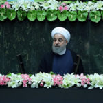 Iranian president Hassan Rouhani attends his swearing-in ceremony for a further term, at the parliament in Tehran, Iran, August 5, 2017.