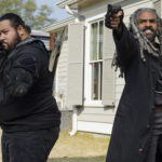 "Khary Payton as Ezekiel and Cooper Andrews as Jerry in AMC's ""The Walking Dead."""