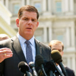 Boston Mayor Marty Walsh speaks after a meeting on gun violence prevention outside the White House on May 24, 2016.