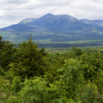 Katahdin is seen from a scenic overlook in the Katahdin Woods and Waters National Monument.