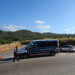 Catalan Mossos d'Escuadra officers and vans block a road near the place where a suspect was killed by police in Sant Sadurni d'Noia, Spain, August 21, 2017.