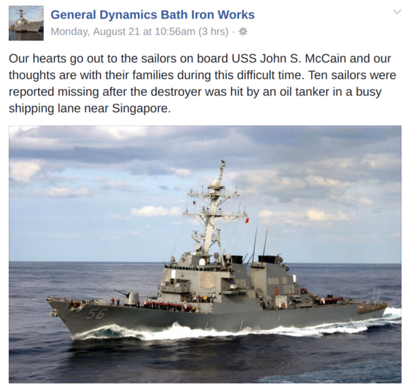 Bath Iron Works stands ready to help repair second Maine built
