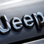 The logo of Fiat Chrysler Automobiles' Jeep brand is seen on a vehicle at Tbilisi Mall in Tbilisi, Georgia, April 22, 2016.