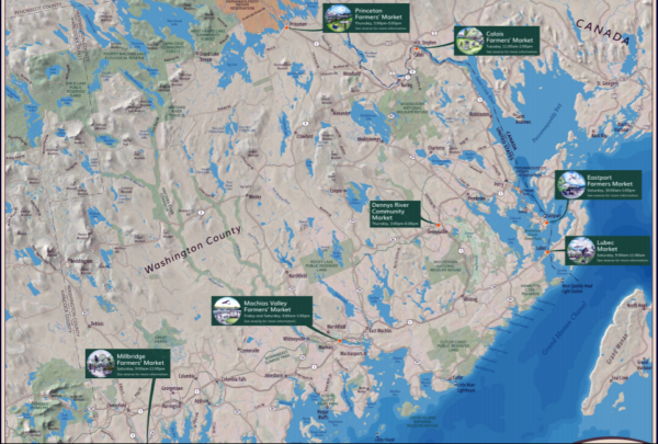 Map Of Coastal Maine Farmers Markets Expanding From Down East To
