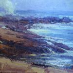 Original oil paintings by George Van Hook will be available to purchase at the Aldermere Farm Art Show and Sale. All of the proceeds will benefit MCHT's agricultural programs in Rockport. Pictured is 'Ocean Point Fog.'