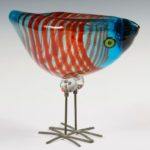 Vistosi-Murano art glass bird, one of over 1,500 fine items to be sold at Thomaston Place Auction Galleries on August 25, 26 & 27