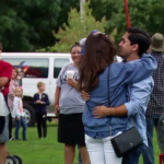 In a big surprise, William Brannon popped the question to his high school sweetheart Amanda Simmons just before the first balloons launched at the Great Falls Balloon Festival.