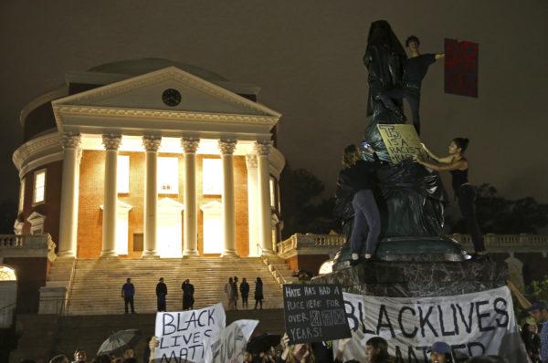 Black Lives Matter Targets Jefferson Monument in Charlottesville