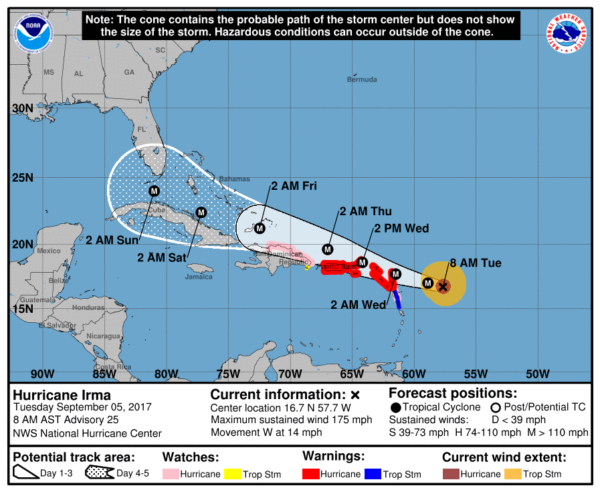 Florida To Maine Map.Florida Officials Begin Ordering Evacuations As Hurricane Irma