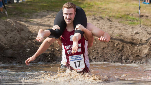Image result for jake barney wife carrying