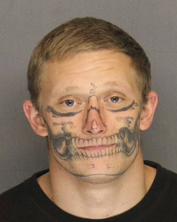 Inmate with skull-face tattoo escapes Calif. work crew