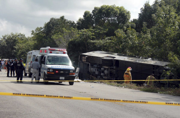 At least 11 killed in Mexico tour bus crash