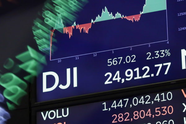 Dow closes 567 points higher after insane swings