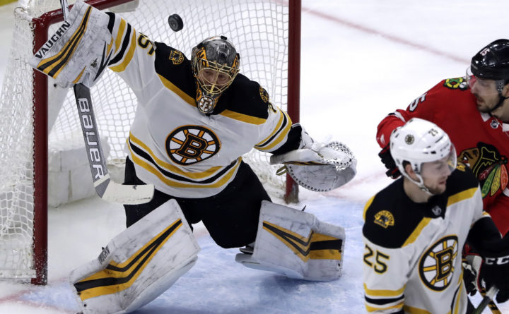 8aa0140f40d Kane's late power-play goal lifts Blackhawks past Bruins — Boston ...