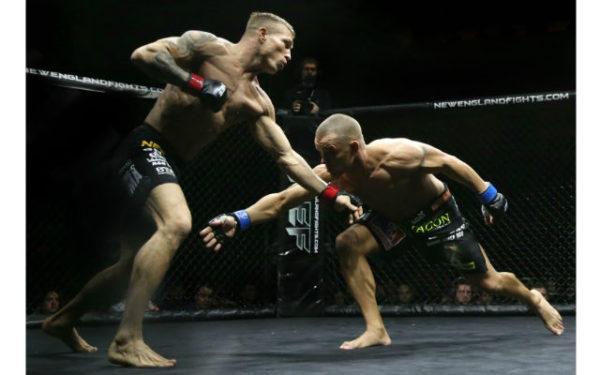 Alabama takedown in the ring