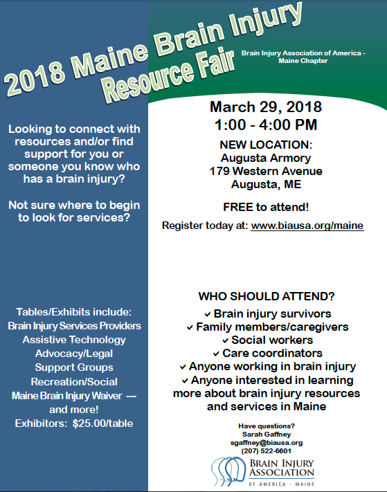 Maine Brain Injury Resource Fair — User Submitted