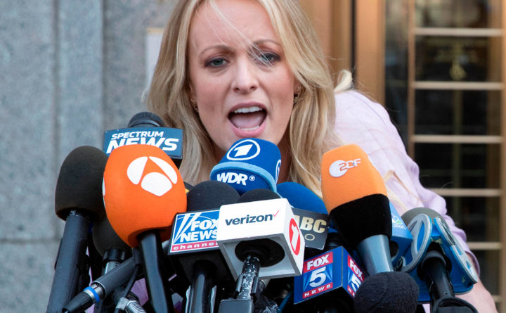 Stormy Daniels sues Trump over 'defamatory' tweet about 'threat' to her