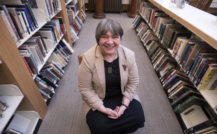 A librarian at Bangor Public Library