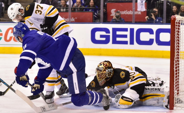 Andersen Helps Maple Leafs Beat Bruins 3 1 To Force Game 7 Boston Bruins Bangor Daily News Bdn Maine