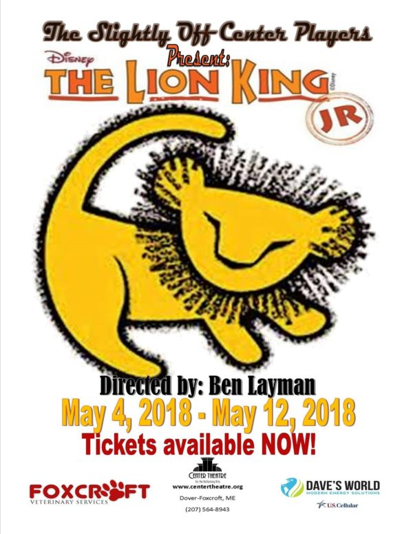 Lion King Jr To Be Presented By The Slightly Off Center