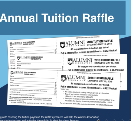 Raffle offers a chance at free UMaine tuition — User