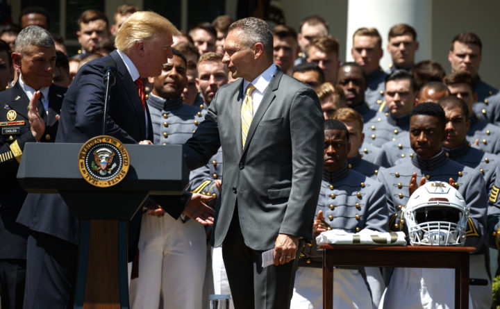 Trump honors Army's football team, jokes about space force