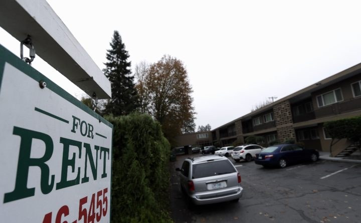 Don Ryan | AP  Apartments for rent are shown in Portland Oregon