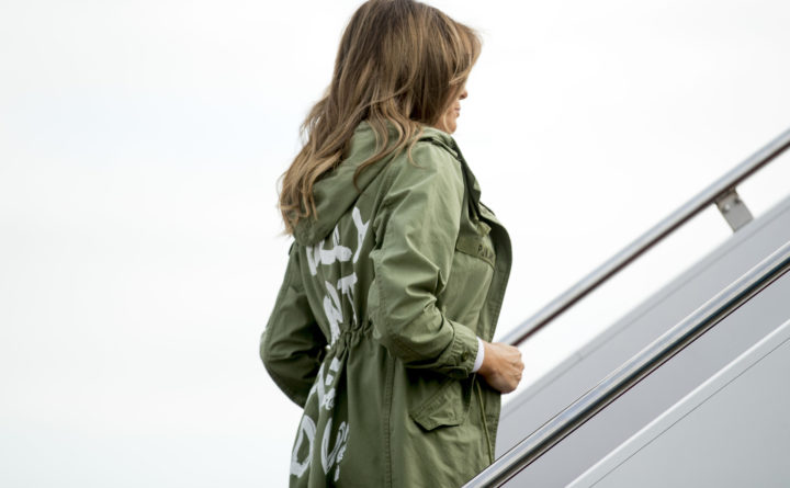 First lady's 'I don't care' jacket causes a stir; Trump tweets response