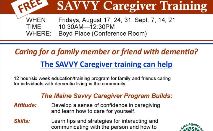 Eastern Area Agency on Aging offers free Savvy Caregiver