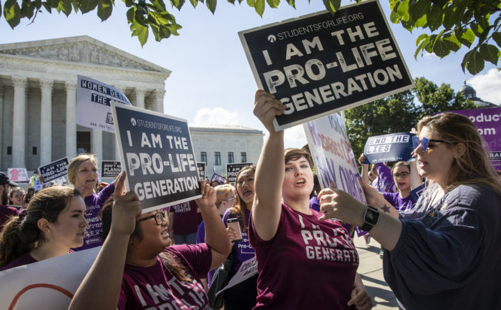 J. Scott Applewhite | AP  Pro-life and anti-abortion advocates demonstrate in front of the Supreme Court