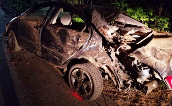 Teen car crash photos