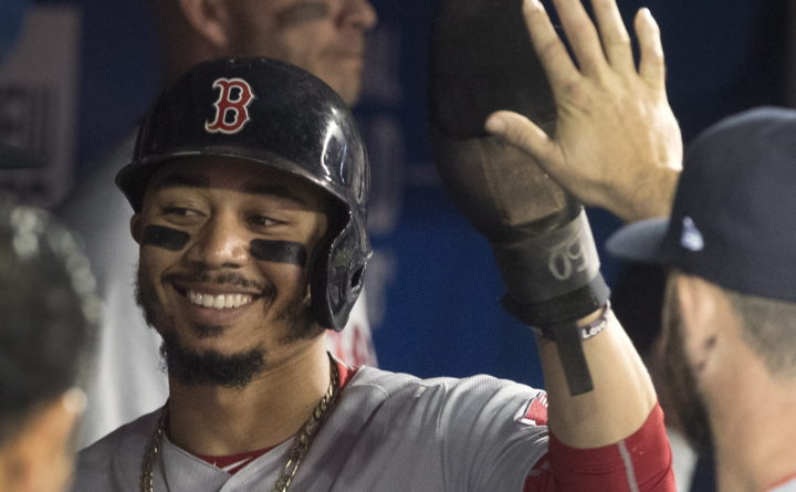 Mookie Betts hits for the cycle against Blue Jays