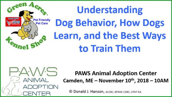» Seminar on dog behavior and positive training techniques in Camden –  Bangor Daily NewsThe Doggy Blogger 26c0778bb