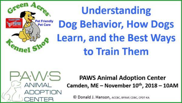 » Seminar on dog behavior and positive training techniques in Camden –  Bangor Daily NewsThe Doggy Blogger 26c0778bb