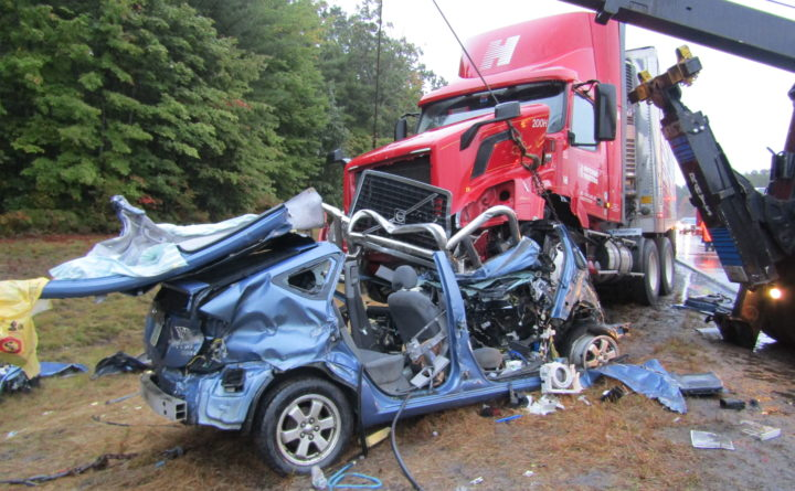 Driver seriously injured after highway crash with tractor