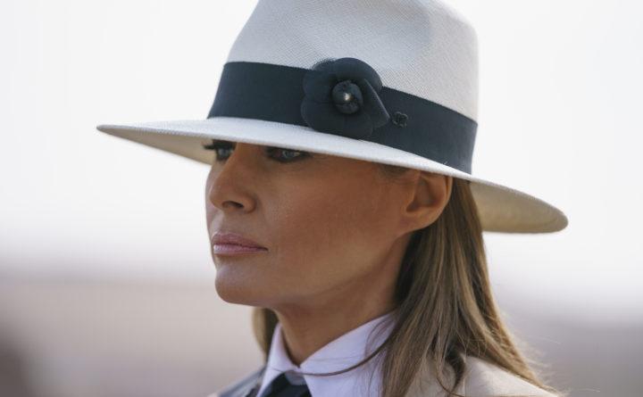 Melania Trump Wears Colonial Hat During Her Tour in Kenya