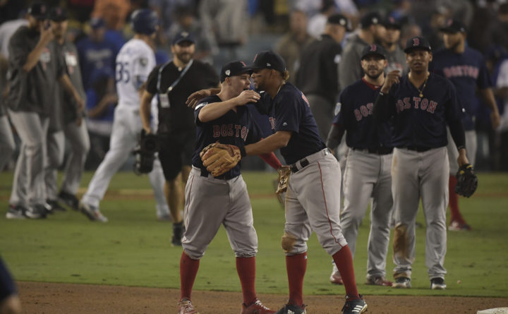 Red Sox on brink of World Series title after win over LA