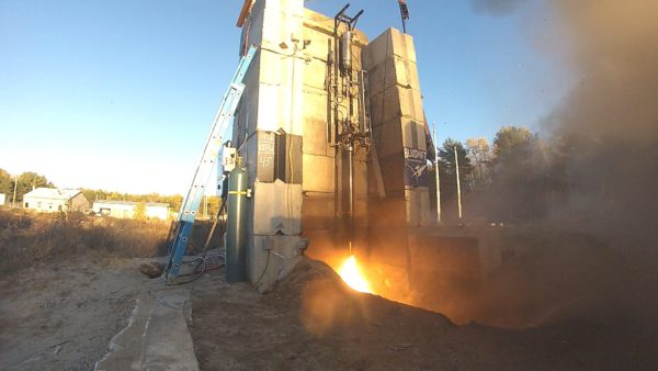 Maine firm tests biofuel-fed rocket engines at a former Navy base