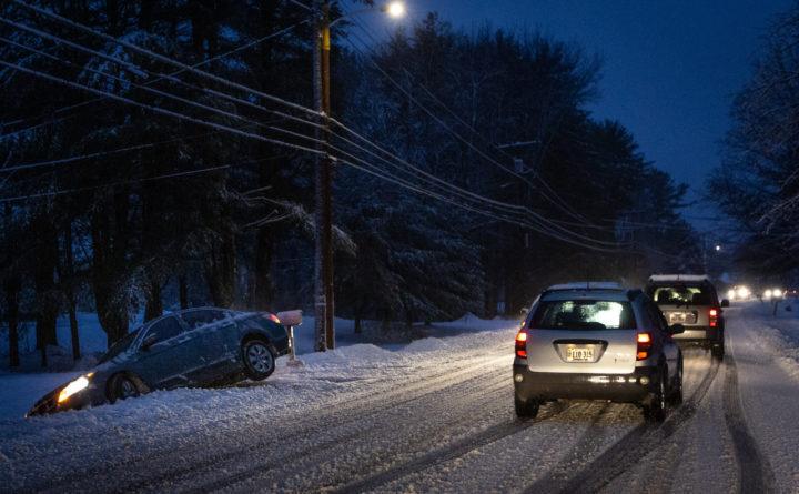 Storm creates hazardous driving conditions, leaves thousand
