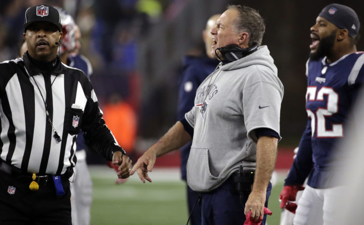 Patriots' Bill Belichick, Vikings receiver have heated exchange during fourth quarter