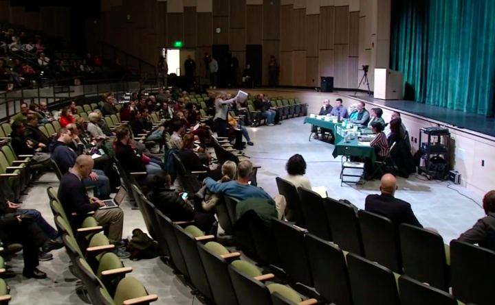 Locals fill NH school board meeting after students sing KKK