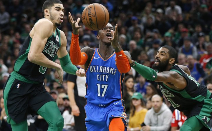 acheter en ligne 4ab09 ffc8b Irving, Celtics outlast Thunder in 134-129 thriller — Boston ...