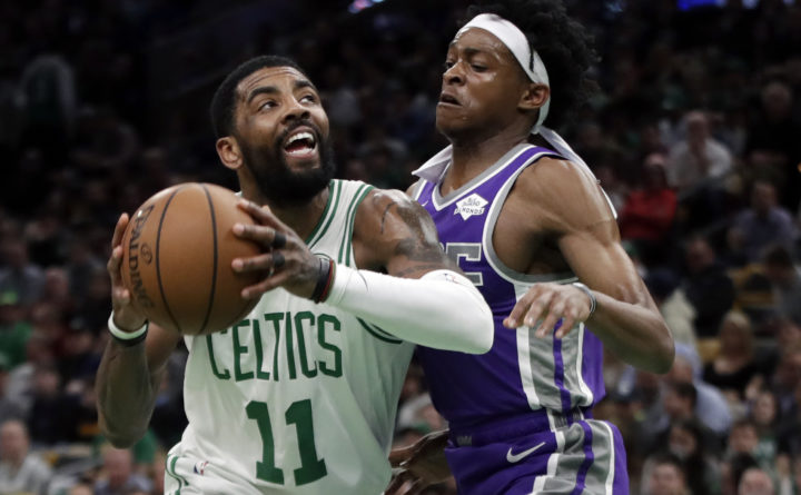 Irving posts triple-double, Celtics top 'Buddy' Hield and Kings 126-120
