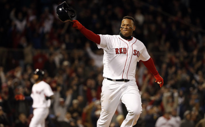 detailed look fb502 2e43a Rafael Devers lifts Red Sox past the Blue Jays in the 9th ...