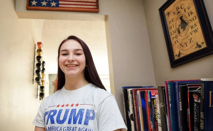 e15116669cd0c NH student says high school made her cover up Trump T-shirt — New ...
