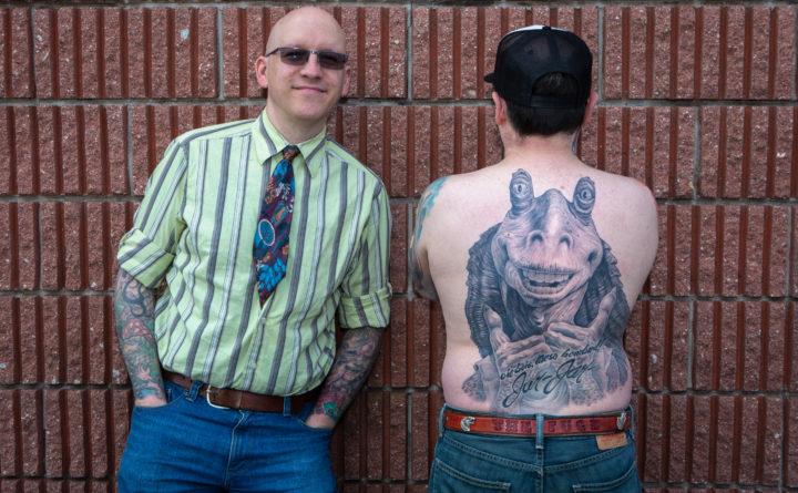 Maine man\'s full-back tattoo of Jar Jar Binks makes him an internet ...