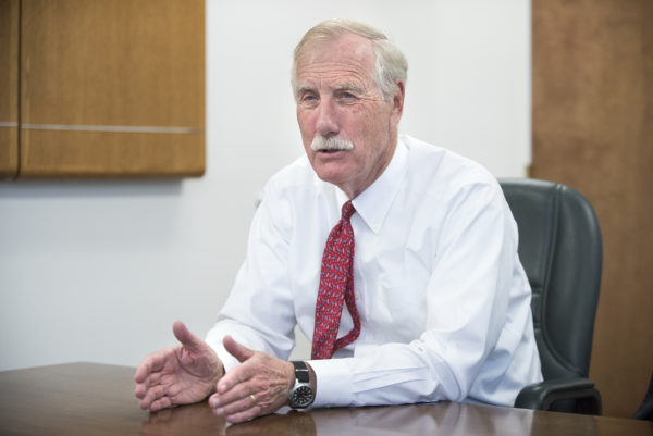 Angus King says he is worried a 'miscalculation' could draw US into conflict with Iran