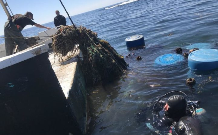 Divers haul up giant ball of 'ghost gear' littering the seafloor off Maine's coast