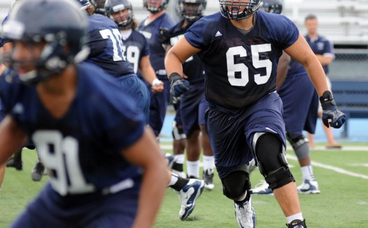 UMaine's Jamil Demby builds versatility as Rams' training camp looms