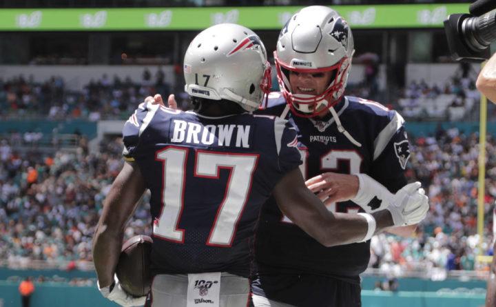 san francisco 0a2df 5fc0a Antonio Brown helps Patriots rout Dolphins 43-0 — New ...
